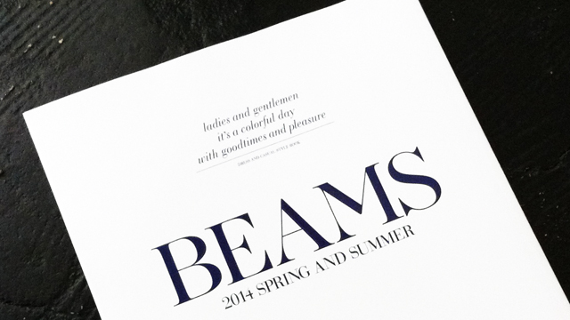 BEAMS 2014 SPRING AND SUMMER DRESS AND CASUAL STYLE BOOK